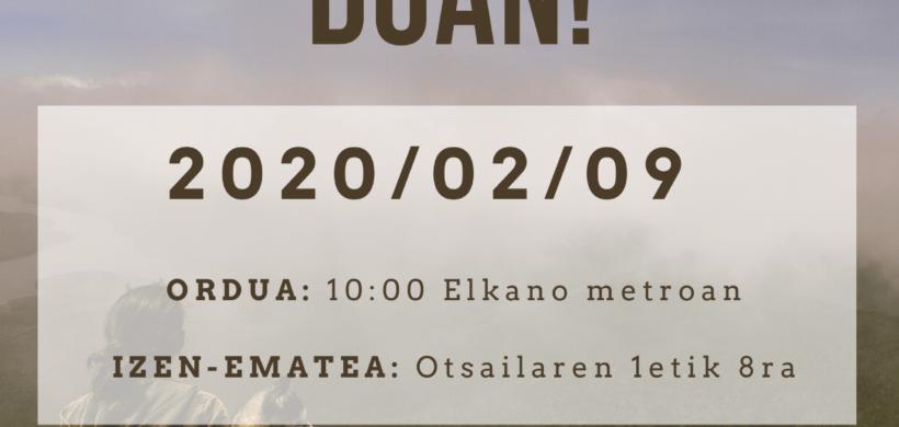 AGATE DEUNAra IGOTZEA (EUSKARAZ)