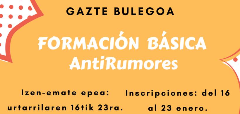 FORMACIÓN BÁSICA ANTIRUMORES