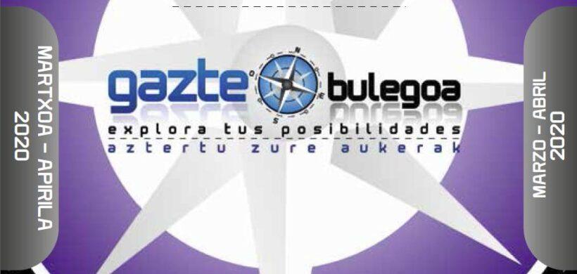 GAZTE AGENDA MARZO – ABRIL 2020