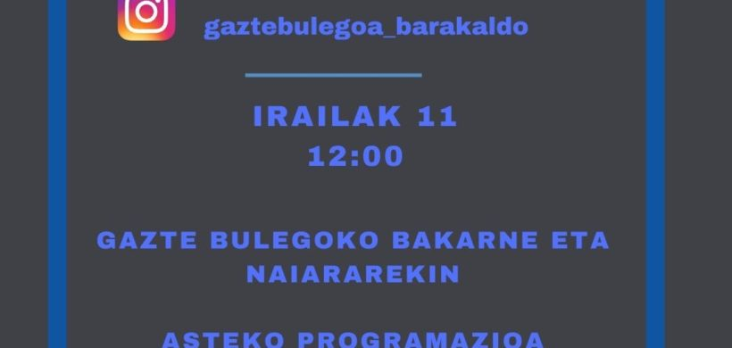 DIRECTOS DE INSTAGRAM DE GAZTE BULEGOA