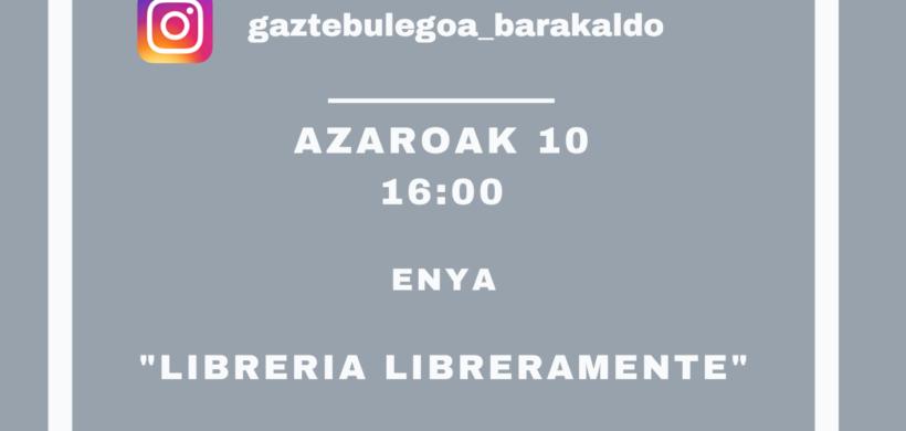 """INSTAGRAMEKO ZUZENEKOAK: GAUR, """"LIBRERAMENTE"""" LIBURUDENDAKO ENYAREKIN"""