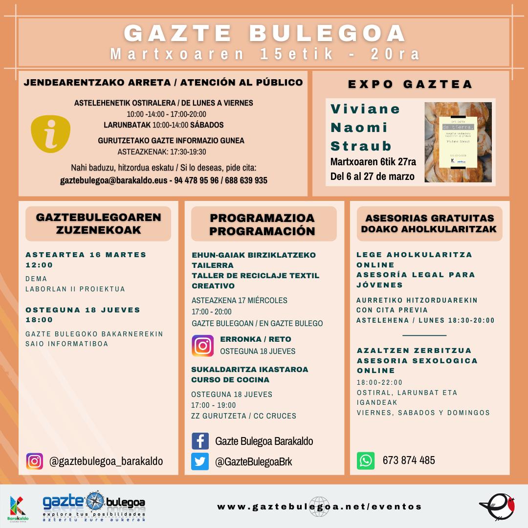 Cartel de la Asteko Programazioa de Gazte Bulegoa