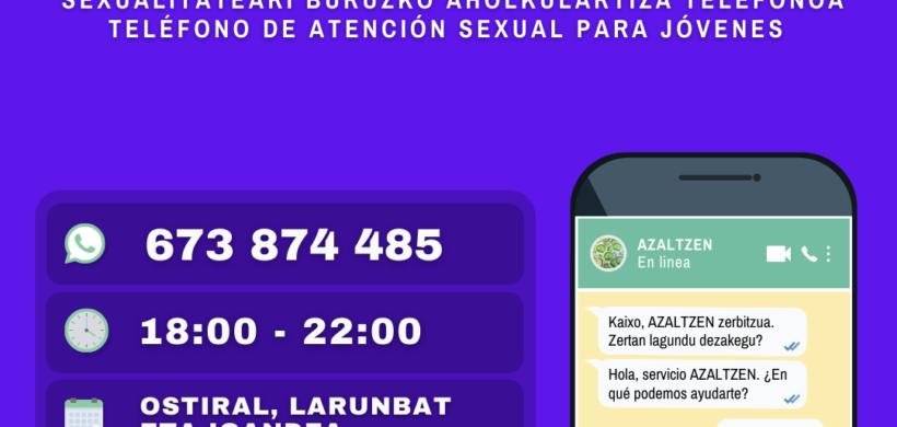 AZALTZEN: SEXUALITATEARI BURUZKO ARRETA ZERBITZUA